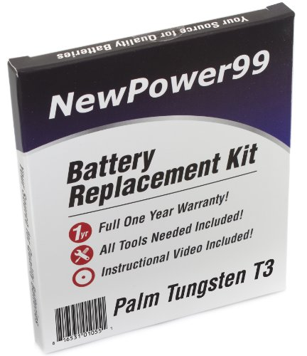 NewPower99 Battery Replacement Kit with Battery, Video Instructions and Tools for Palm Tungsten - Pda Tungsten Battery