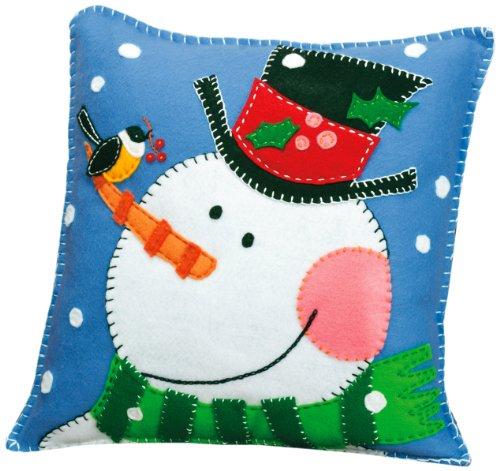 Dimensions Needlecrafts Felt Applique, Snowman Pillow -