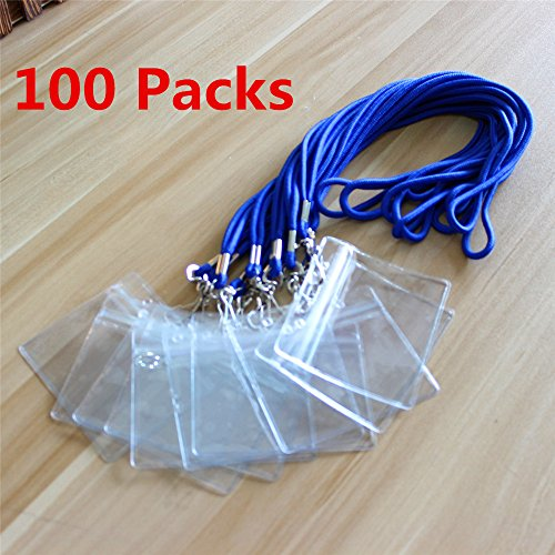 "Top 100 pack Terylene Lanyard 17.7"" Long Lanyards Sets with badge holder (Blue) supplier"