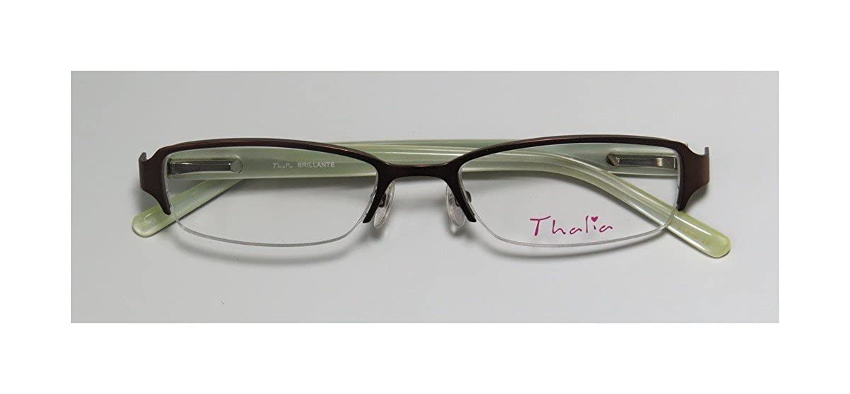 a67c599e0409 Amazon.com: Thalia Brillante Childrens/Kids/Girls Designer Half-rim  Eyeglasses/Glasses (48-17-130, Brown / Tortoise / Cream): Clothing