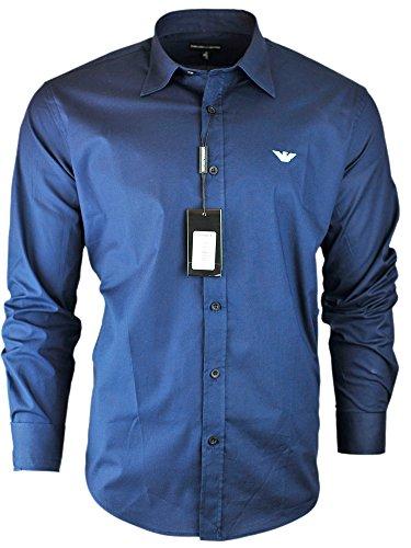 Emporio Armani Men's Long Sleeve Casual Shirt (Navy, - Emporio Armani