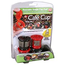 Cafe Cup - Reusable Single Serve Coffee Pod (4-Pack)