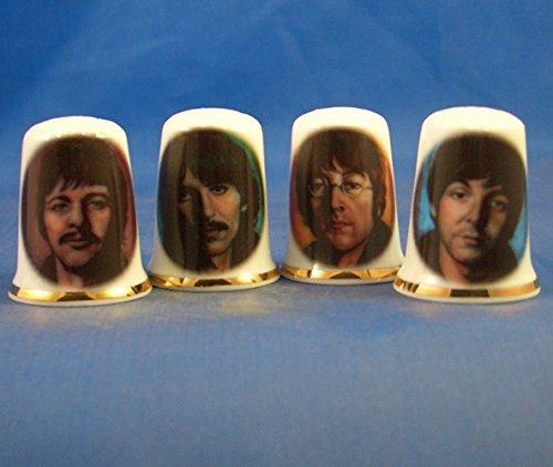 Porcelana Birchcroft China The Beatles Juego de 4 dedales
