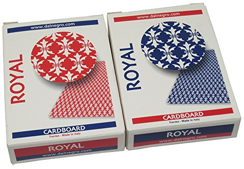 Dal Negro Treviso Royal Red/Blue Playing Cards Poker Size Standard Index - 2 Deck Setup ()