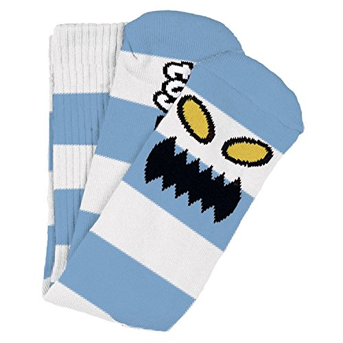 Toy Machine Skateboards Monster Big Stripe Lite Blue Crew Socks - One size fits most