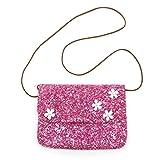 Elesa Miracle Little Girl Bag Kids Crossbody Purse Messenger Bag Party Handbag Shiny Bling Bling Shoulder Bag (Pink)