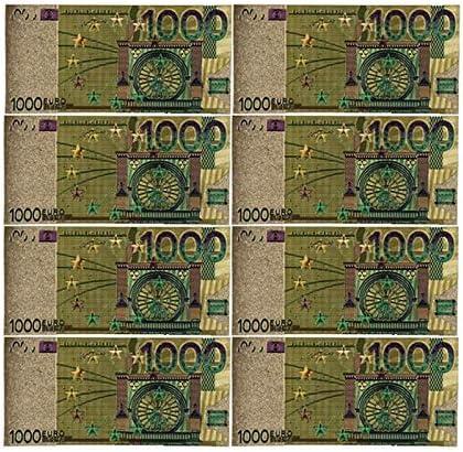 ZYZRYP コレクションやギフトEUマネー絶妙なクラフト用カラーユーロ紙幣10個入り/ロット20 EUR金箔紙幣 使いやすい