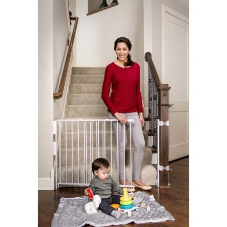 Regalo Extra Tall Expandable Top of Stairs Baby Gate,