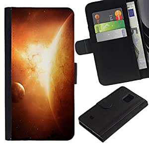 UNIQCASE - Samsung Galaxy S5 Mini, SM-G800, NOT S5 REGULAR! - Planets In Space - Cuero PU Delgado caso cubierta Shell Armor Funda Case Cover