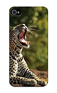 Awesome 7657f8e5010 Traveling Defender Tpu Hard Case Cover For Iphone 5/5s- Leopard Yawning