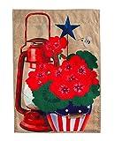 Evergreen Rustic Patriotic Pot Burlap Garden Flag, 12.5 x 18 inches Review