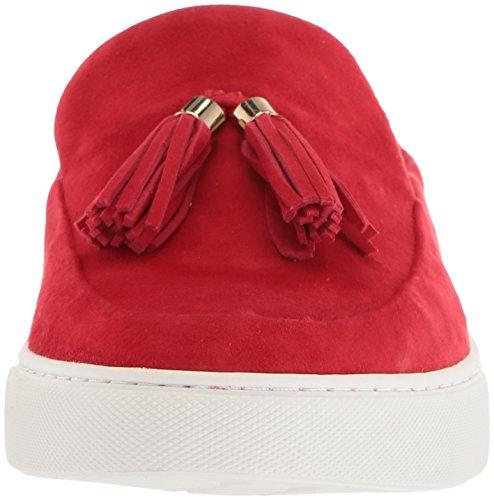 Gentle Souls Women's Rory Slip on Mule with Tassel Sneaker, Red