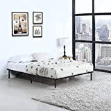 Platform Bed Frame Mattress Foundation Queen Size Metal Bed Base Heavy Duty Wood Slat with Bedroom No Box Spring Needed