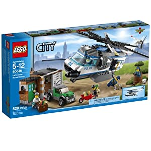 lego city police helicopter surveillance building set 60046