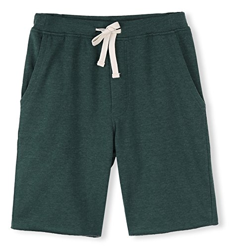 HETHCODE Men's Casual Classic Fit Cotton Elastic Jogger Gym Shorts