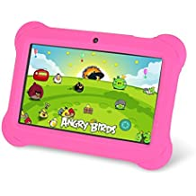 """Zeepad Kids TABZ7 Android 4.4 Quad Core Five Point Multi Touch Tablet PC, 7"""", 4GB, Kids Edition, Pink"""