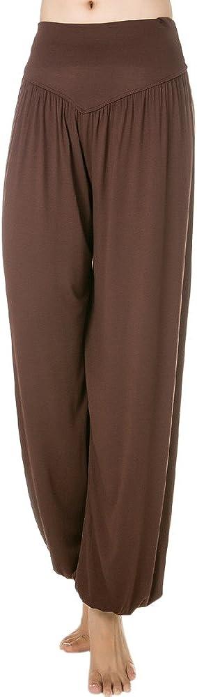 Pantalones de deporte para mujer de yoga, suaves, 95 % modal de baile, tipo Bloomer Pants
