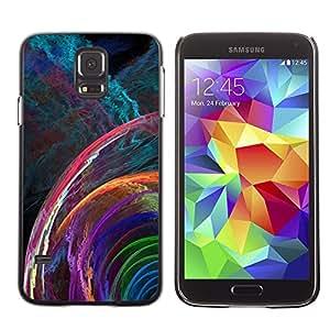 Smartphone Rígido Protección única Imagen Carcasa Funda Tapa Skin Case Para Samsung Galaxy S5 SM-G900 svet cvet spiral uzor fraktal / STRONG
