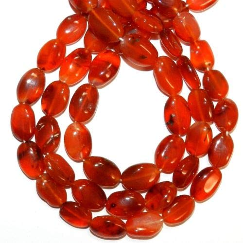 - NG2990 Red Carnelian 8mm - 13mm Puffed Flat Oval Agate Gemstone Beads 12'' Crafting Key Chain Bracelet Necklace Jewelry Accessories Pendants