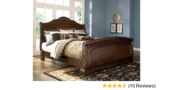 . Ashley North Shore 6 6 King Sleigh Bed B553    best seller