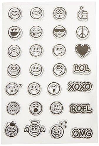 Bo Bunny 12105437 Stamps, Emoji, Clear (Bunny Emoji)