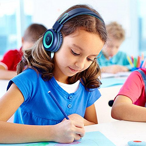 Kids-Headphones-noot-products-K11-Foldable-Stereo-Tangle-Free-35mm-Jack-Wired-Cord-On-Ear-Headset-for-Children-NavyTeal