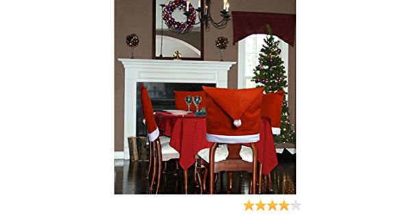 Home Decor D Fantix Santa Claus Suit Christmas Chair Covers With Belt Buckle Dining Room Chair Covers Holiday Christmas Decorations Red Set Of 4 Home Berlado Ma