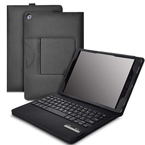 KuGi Asus Zenpad Z10 ZT500KL keyboard case, Ultra Lightweight Stand Portfolio case with Detachable Bluetooth Keyboard for Asus Zenpad Z10 ZT500KL Verizon / 3S 10 Z500M-C1-GR 9.7Inch tablet(Black)