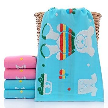 XXIN / Toallas/Algodón para Niños/Gasa Toalla Cuadrada Toallas Toalla para Niños Toalla De Saliva/Oso Conejo Azul/ 25 * 50: Amazon.es: Hogar