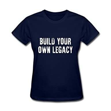 a734fb22 ZhiBo Build Your Own Legacy Customs T-shirts for Woman Royal Blue Small