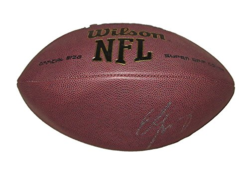 Eli Manning Autographed Wilson NFL Football W/PROOF, Picture of Eli Signing For Us, New York Giants, Ole Miss Rebels, Super Bowl Champion, Pro Bowl