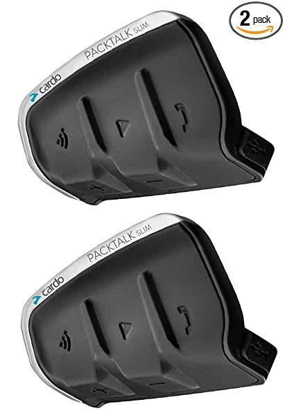 4be1943ebeed Amazon.com: CARDO SRPT3102 PACKTALK SLIM DUO HEADSET 2-PACK, SRPT3102  Motorcycle Bluetooth Communications System DUAL PACK, SRPT3102: Automotive