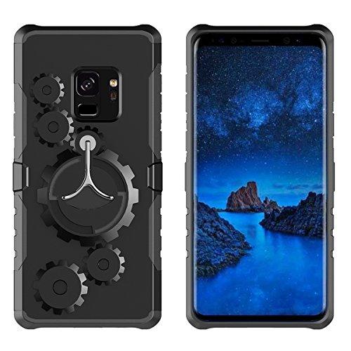 Galaxy S9 Plus Funda, CHENXI 2 en 1 Brazalete Deportivo Estuche Protector Carcasa Armband Funda de TPU Case Cover Desmontable Banda Case para Samsung Galaxy S9 Plus / Galaxy S9+ Gris Negro