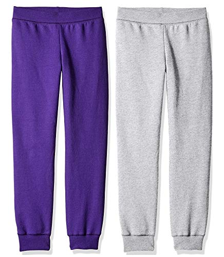 2-pack Hanes Premium Girls fleece sweat pants M, Colors may vary
