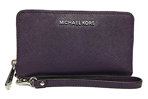 Michael Kors Giftables Jet Set Travel Flat Leather Phone Case (Grape Purple) by Michael Kors