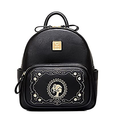 Hipytime BHB880466 Fashionable PU Leather Korean Style Women's Handbag,Vertical Section Square Backpack
