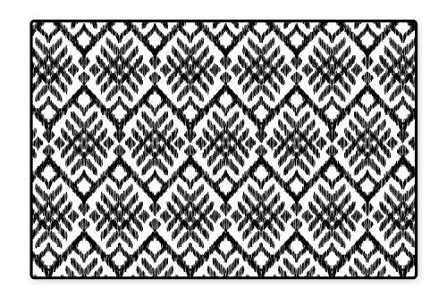 Collection Area Rug Diagonal Ethnic Bohemic Design Made with Stripes and Little Triangle Lines Art Black and White Ideal Anti Slip 6'6