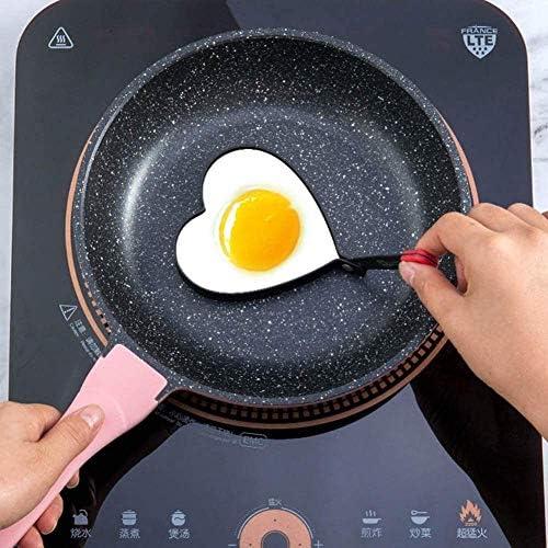 liangh Moule à Omelette,5 œufs en Forme,Cuisson des Omelettes œuf,Frit Steak De Bœuf Aux Crêpes Etc,Antiadhésif Acier Inoxydable 304,pour Cuisine.