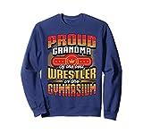 Unisex Wrestling Sweatshirt - Proud Grandma Wrestling Sweater XL: Navy