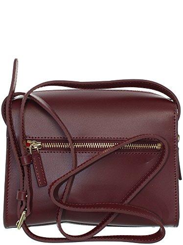 Lancaster Camélia Shoulder Bag bordeaux red