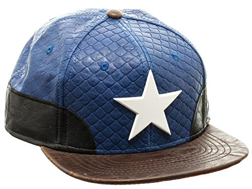 Captain America- Faux Leather Snapback Hat Size ONE SIZE