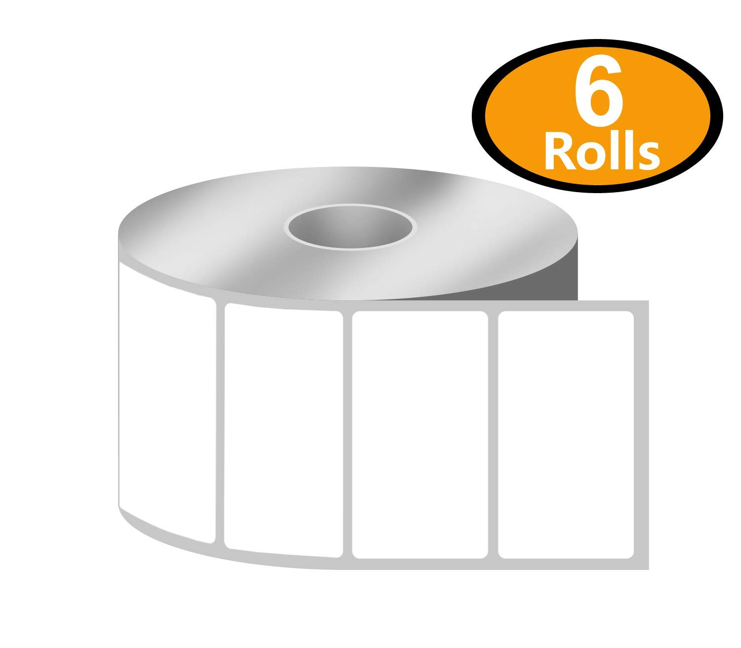 [10 Rolls, 750/Roll] 2 x 2 Direct Thermal Zebra/Eltron Compatible Labels - Premium Resolution & Adhesive BETCKEY