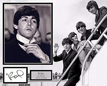 Signing Dreams Autographs - Soporte para Fotos firmada por Sir Paul Mccartney - The Beatles - Hard Days Night - Distribuidor 100% en Persona - Registrado por UACC #242: Amazon.es: Hogar
