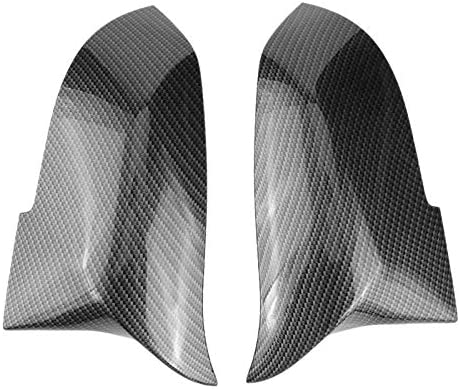 Hu New-1 Paar Autos Rückspiegel Abdeckkappe for F20 F22 F30 F31 F32 F33 F36 F34 F35 Seitenspiegelabdeckung Trim 5116 Gute Autoteile (Color : BK)