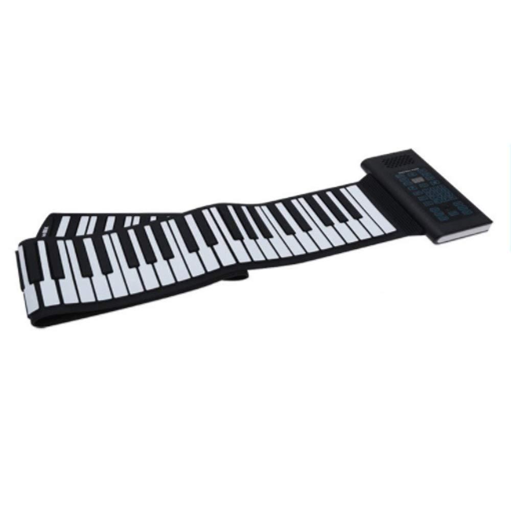 フレキシブルロールアップピアノ サイズ 折りたたみ式88キーエレクトリックデジタルロールアップソフトシリコンキーボードピアノ(USB付き)MIDI出力録音プログラミングチュートリアルチュートリアルSustain Vibrato機能内蔵スピーカーヘッドフォンジャックフットペダル 初心者向け (色 : ブラック, : サイズ ブラック, : Free size)Free sizeブラックB07QBYRBV9, 成田市:ac8d1d0c --- publishingfarm.com