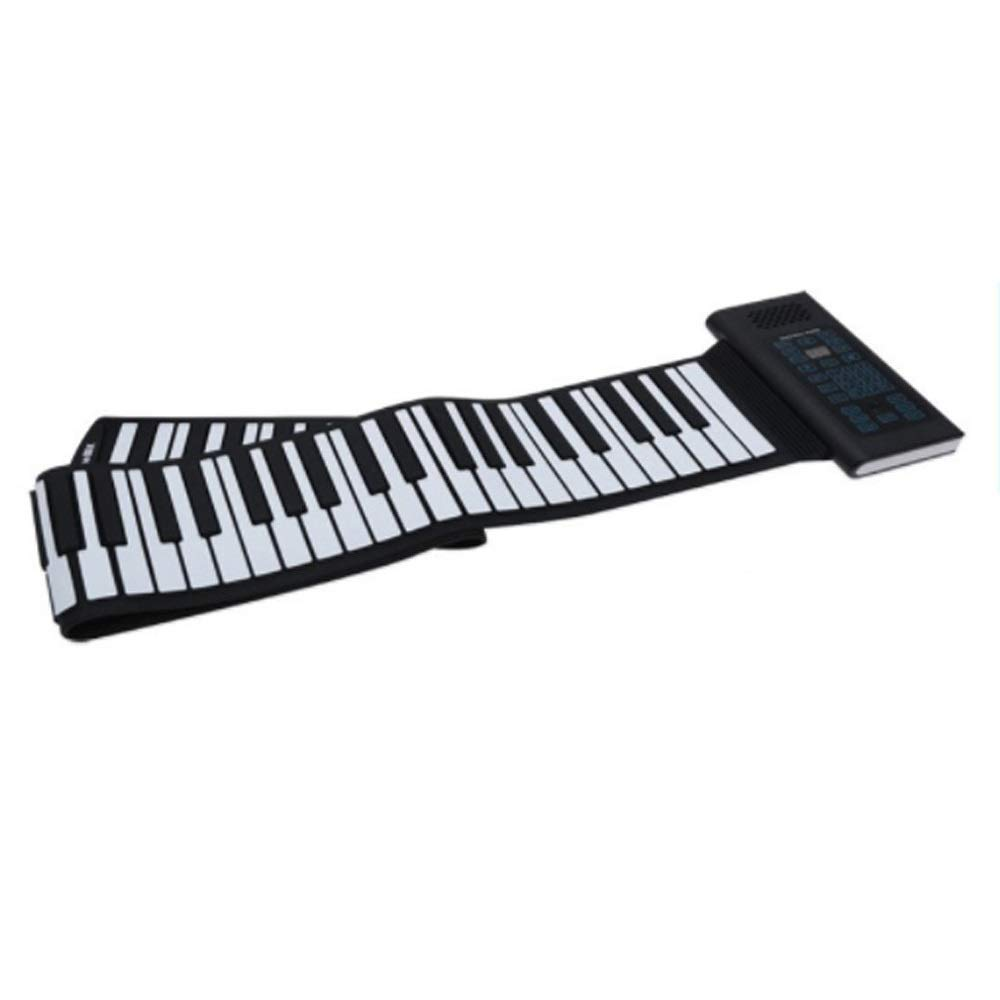 Electronic piano Electric Digital Roll Up Soft Silicon Keyboard Piano Foldable 88 Keys With USB MIDI Output Recording Programming Playback Tutorial Sustain Vibrato Functions Built-in Speaker Headphone by Shenghua1979-MU