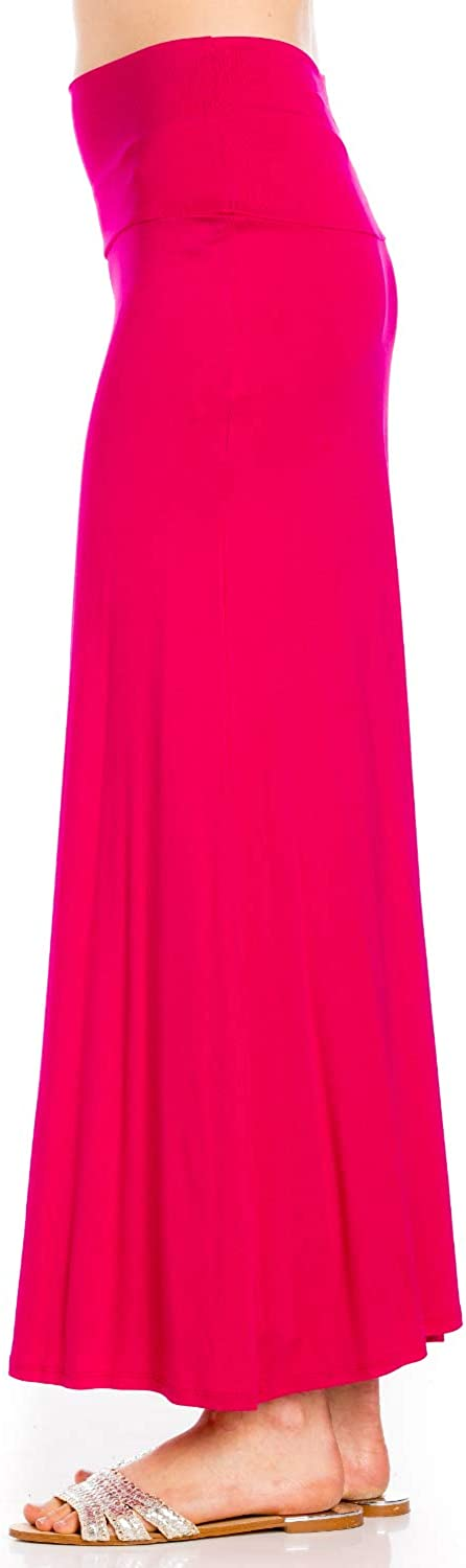 Azules WomenS Rayon Span Maxi Skirt Solid
