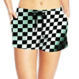 confirm vt Waving Checkered Flag Car Racing 2018 Fiery Summer Beach Shorts Swim Trunks Lady