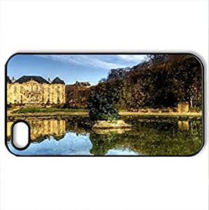 Chateau Rodin France - Case Cover for iPhone 4 and 4s (Ancient Series, Watercolor style, Black)