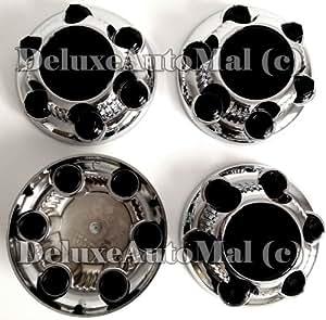 1999, 2000, 2001, 2002, 2003, 2004, 2005, 2006, 2007, 2008, 2009 Chevy Silverado / GMC Sierra 6 LUGS New Chrome Wheel Center Caps (Set of 4)